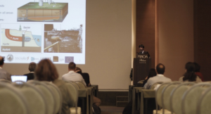 Dr. Sadjad Mohammadian of UDE at the REGROUND session, in the 7th European Bioremediation Conference.
