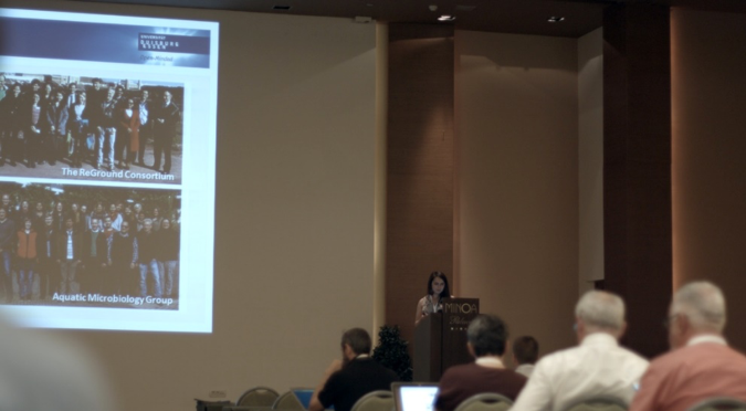 Dr. Beate Krok of UDE at the REGROUND session, in the 7th European Bioremediation Conference.